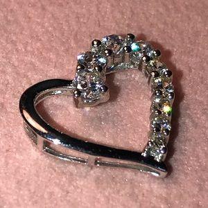 Jewelry - 10K CZ Floating heart pendant